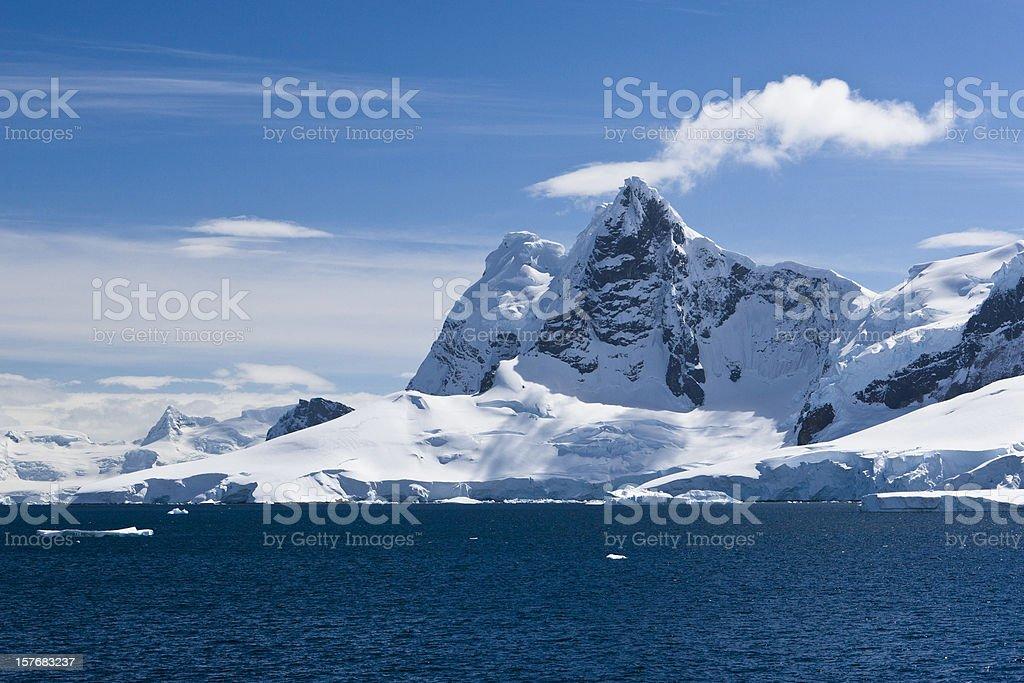 Antarctic Icy Peaks stock photo