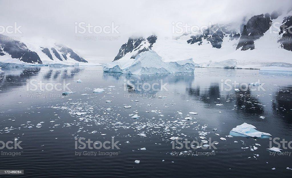 Antarctic Landscape Panorama stock photo