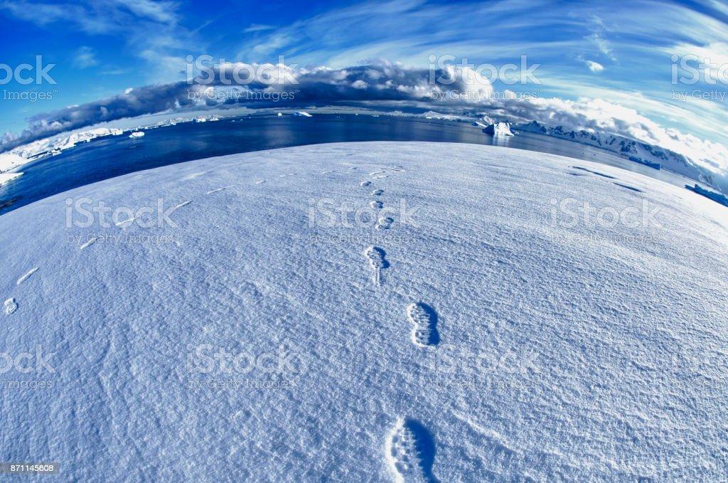 Antarctic Landscape, Portal Point, Antarctic Peninsula, Antarctica stock photo