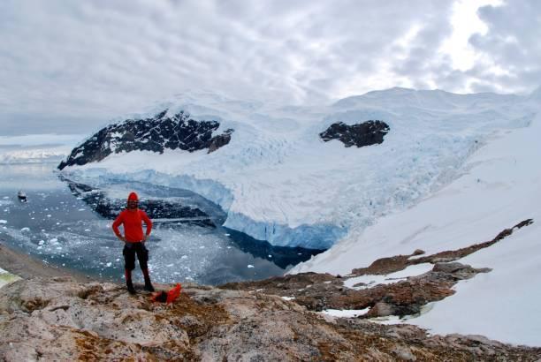 Fotógrafo Antártico - foto de stock