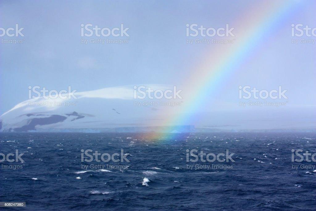 Antarctic- rainbow stock photo