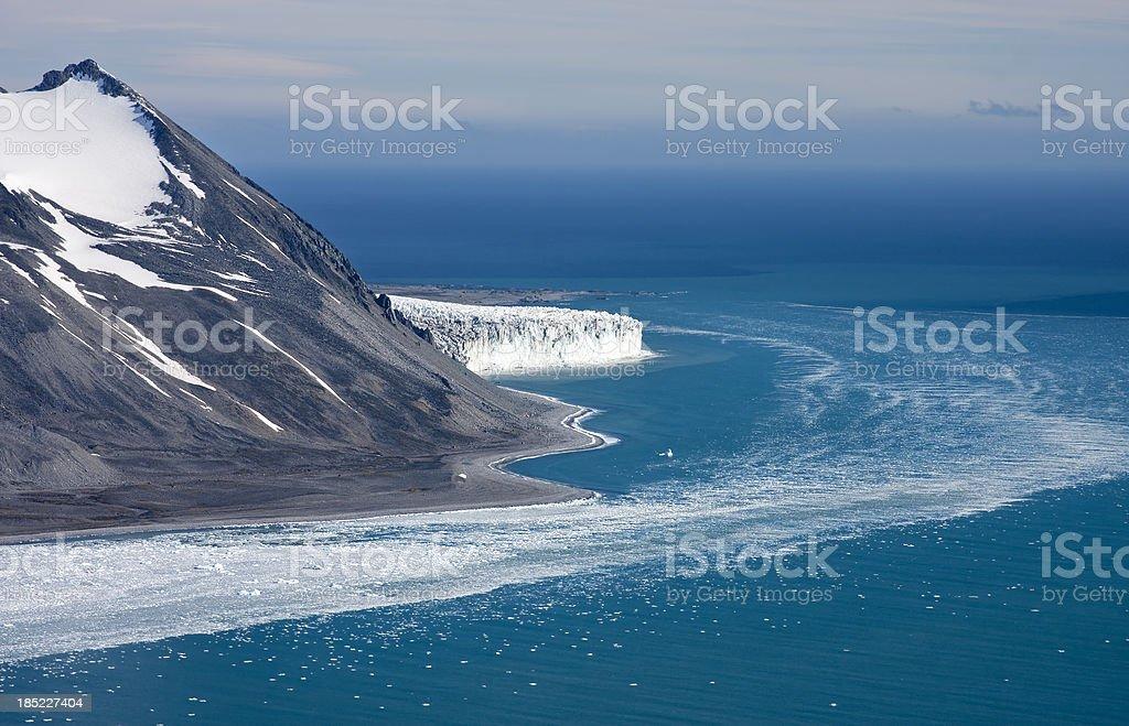 Antarctic shores stock photo