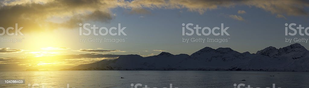 Antarctic sunset royalty-free stock photo