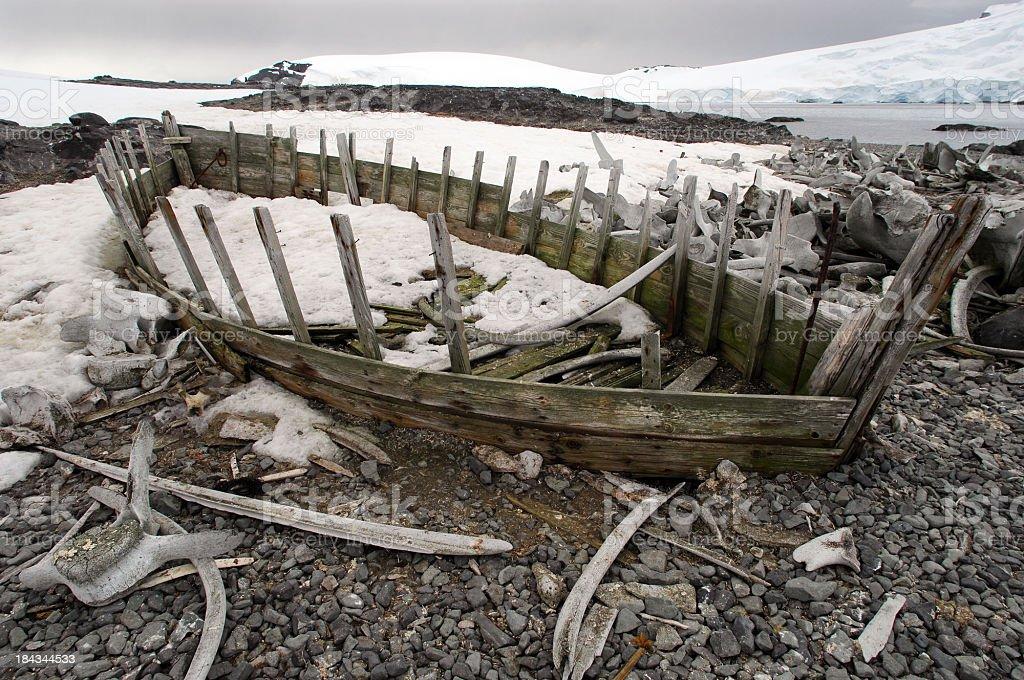 Antarctic Whaling Boat royalty-free stock photo