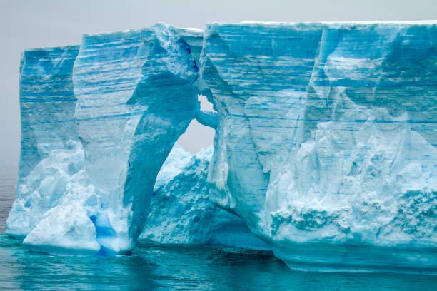 南極大陸-南極半島-表の氷山 bransfield 海峡 - 南極旅行 ストックフォトと画像
