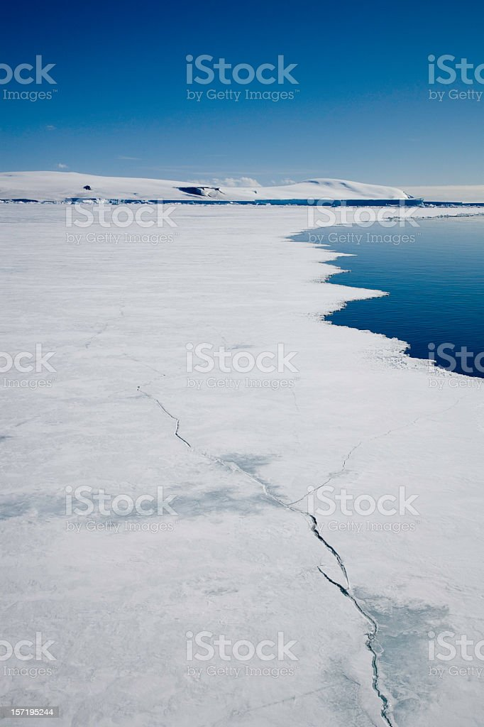 antarctica breaking pack ice stock photo