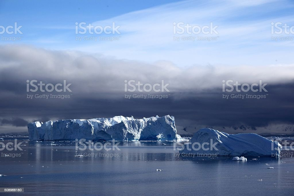 Antarctica Ice shelf stock photo