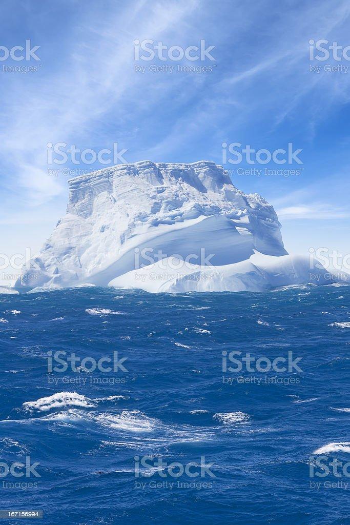 Antarctica iceberg floating stock photo