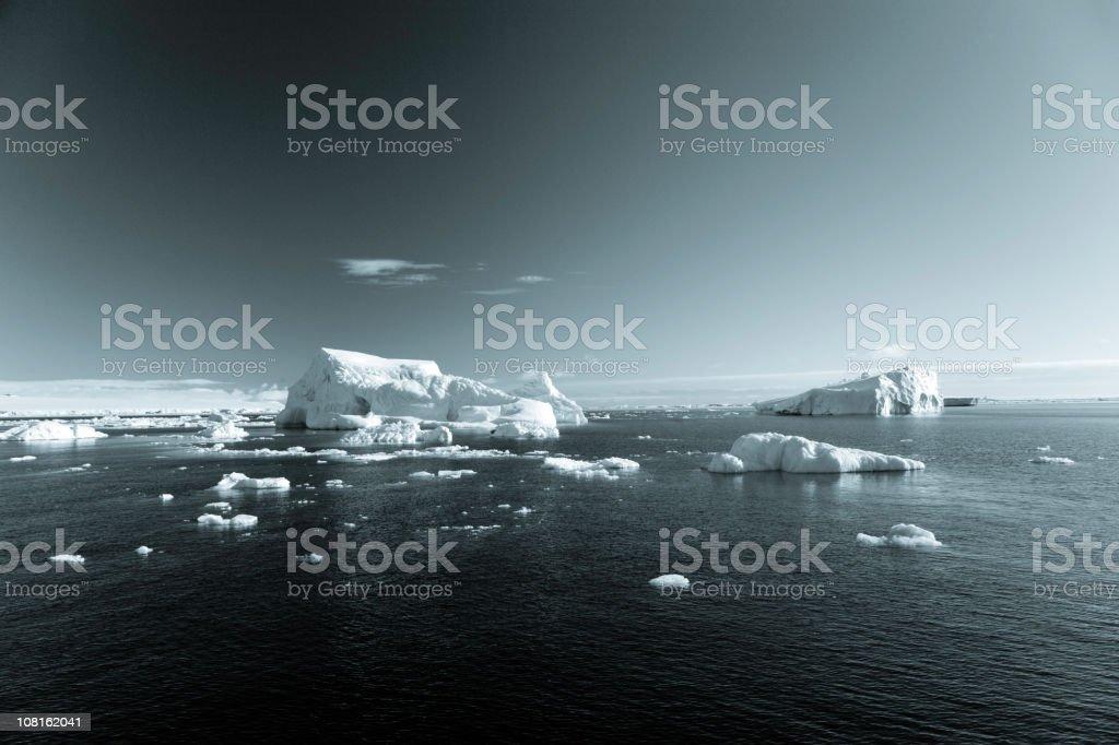 Antarctica Iceberg Landscape BW royalty-free stock photo