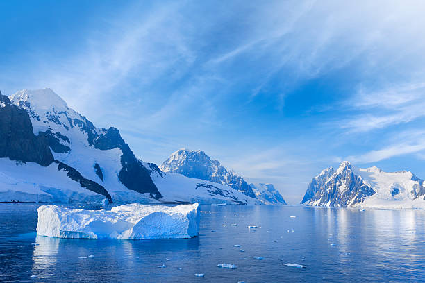 Antarctica Lemaire Channel snowy mountain http://farm9.staticflickr.com/8247/8468650322_798db833aa.jpg?v=0 ice floe stock pictures, royalty-free photos & images