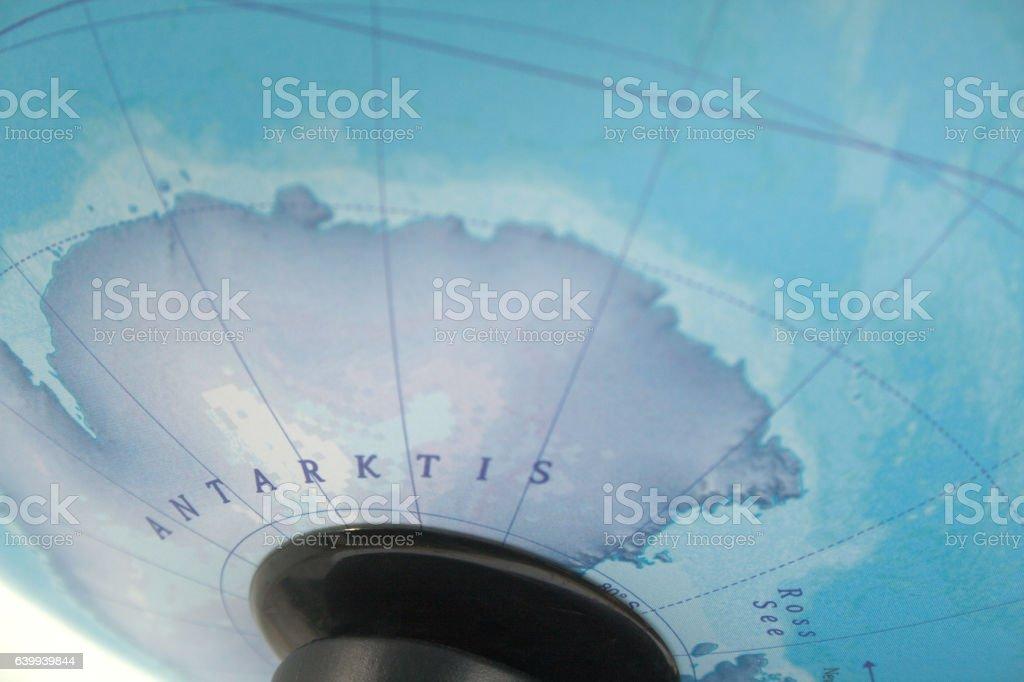 Antarctica (Antarktis) map close-up stock photo
