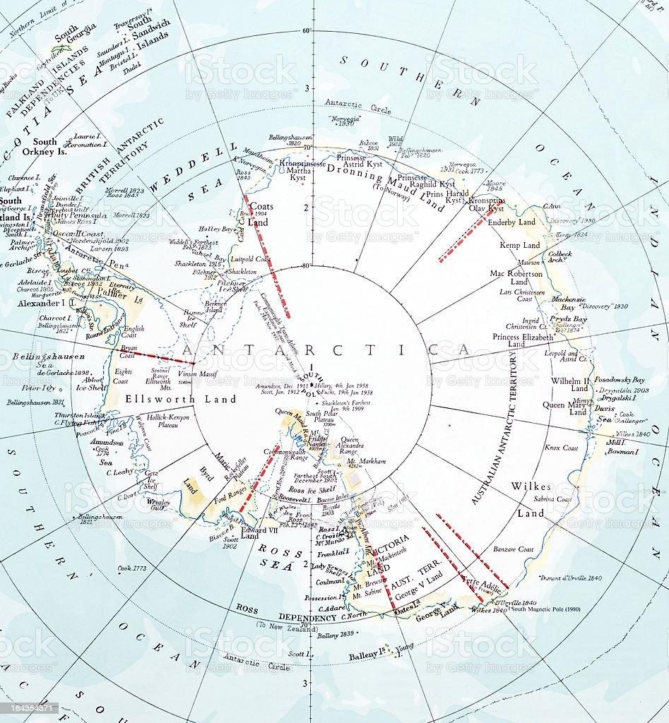 Antarctica Map royalty-free stock photo
