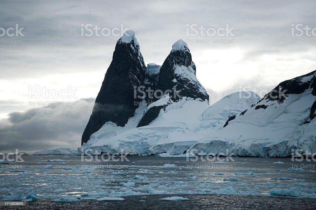 Antarctica Mountain Peaks royalty-free stock photo