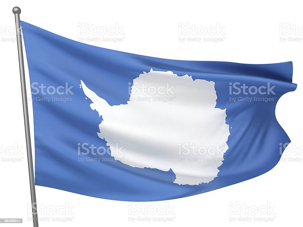Antarctica National Flag royalty-free stock photo