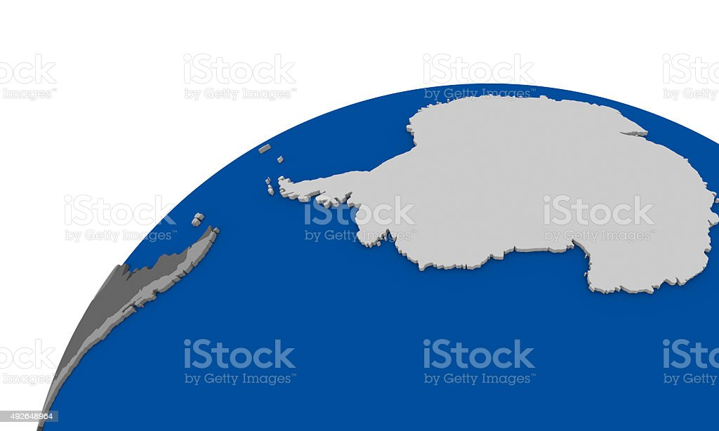 Antarctica On Earth Political Map Stock Photo IStock - Earth political map