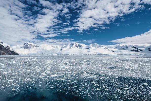 Antarctica Peninsula Glaciers South Pole stock photo