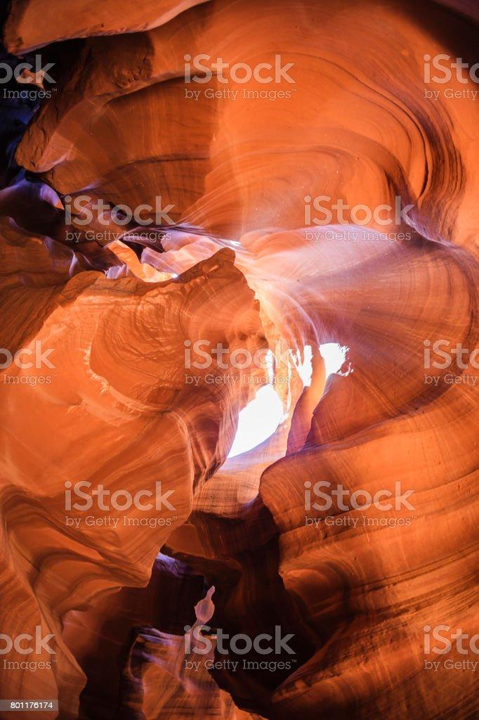 Antelope canyon at Utah stock photo