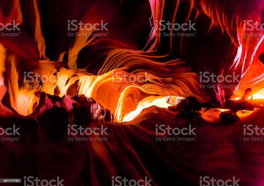 Antelope Canyon Colors stock photo