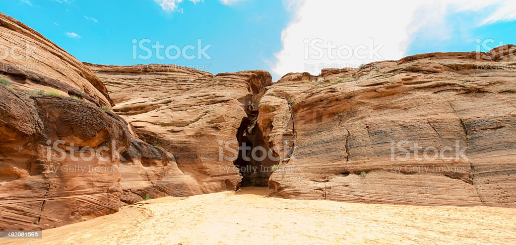 Antelope Canyon Entrance stock photo