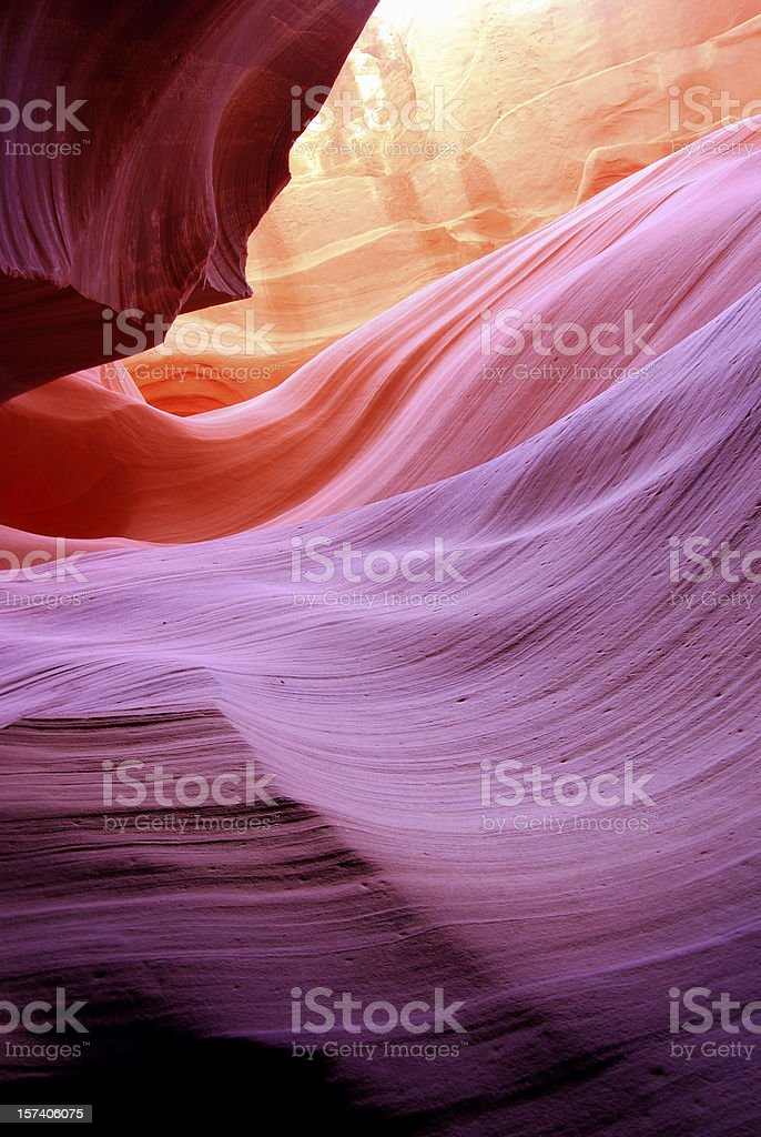 Antelope canyon, Page, Arizona, US stock photo