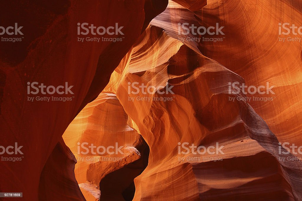 Antelope Canyon red sandstone rock formations royalty-free stock photo