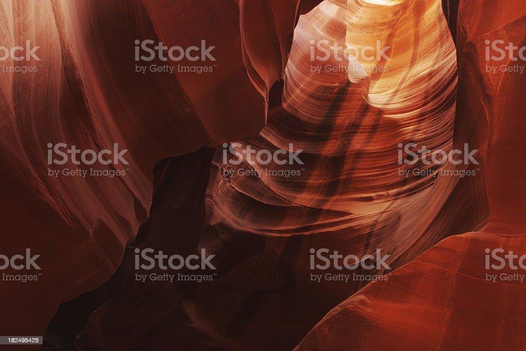 Antelope Canyon Rock Strata Sunbeam royalty-free stock photo