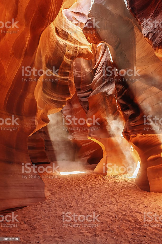 Antelope Canyon waves stock photo