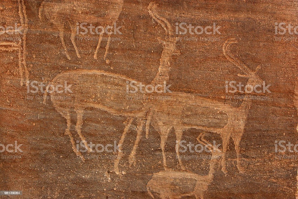 Antelope carving royalty-free stock photo