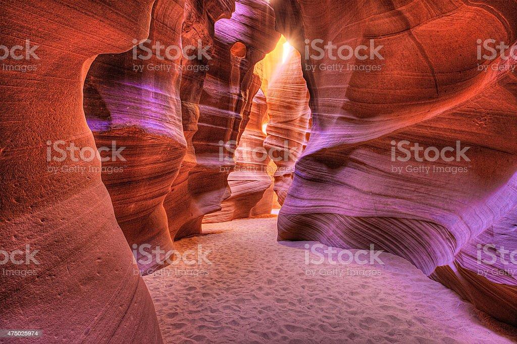 Antelope Slot Canyon - Lizenzfrei 2015 Stock-Foto