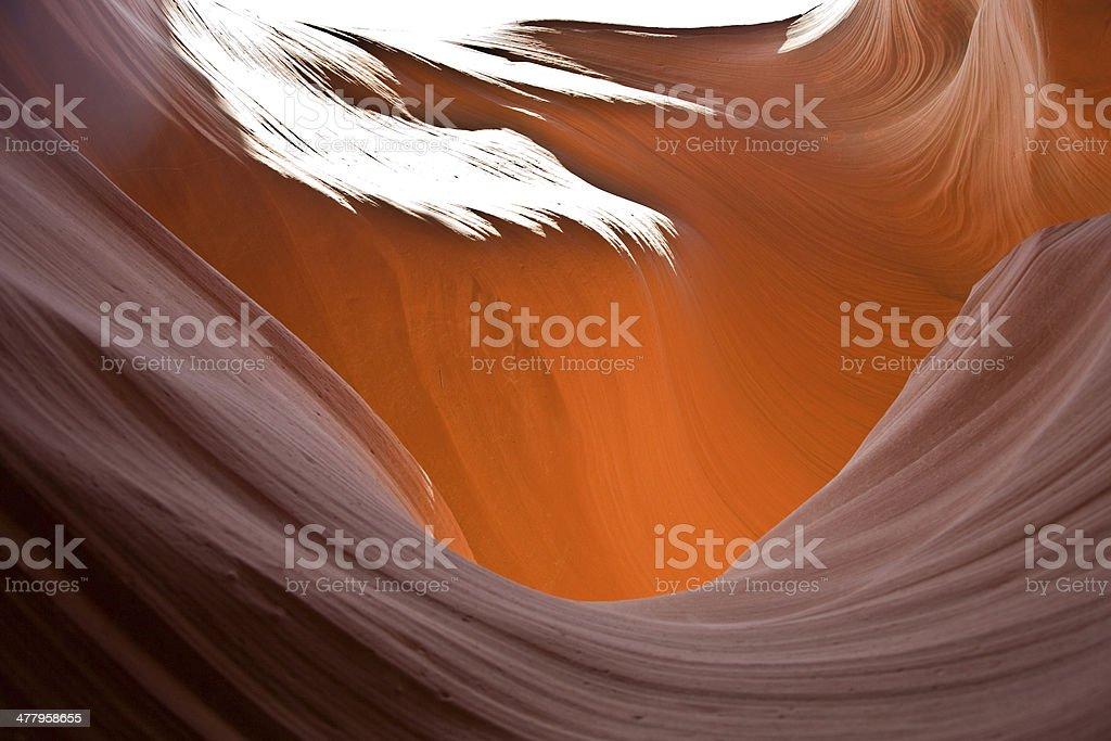 Antelopes Canyon near page royalty-free stock photo