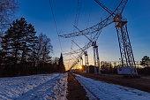 istock Antenna Array. A long row of radio telescopic antennas 1312455063