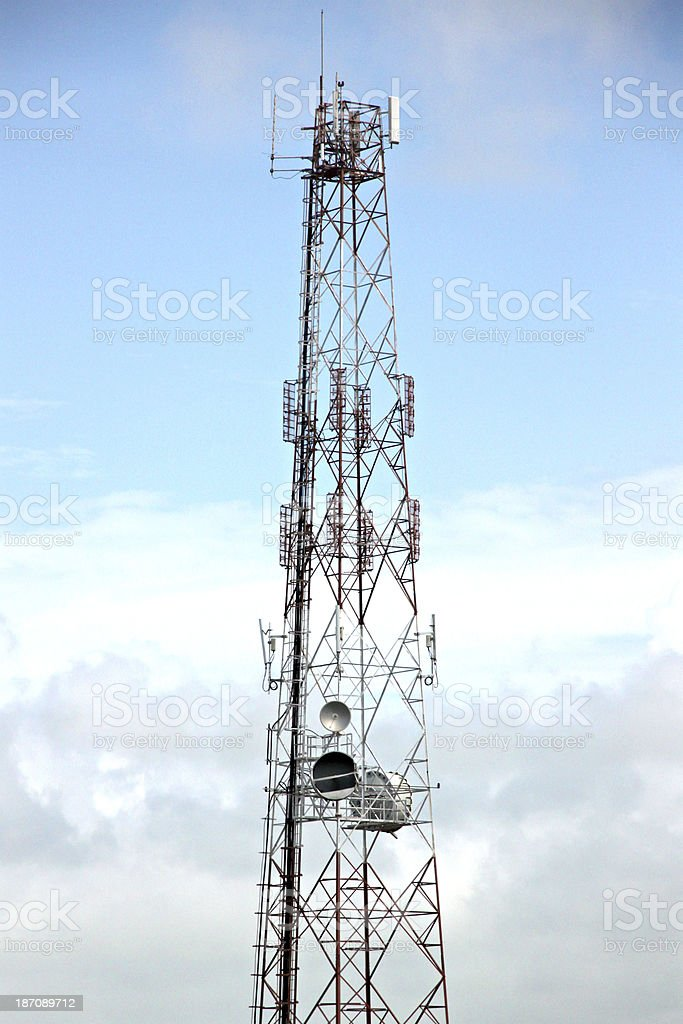 Antenna array telephone. royalty-free stock photo