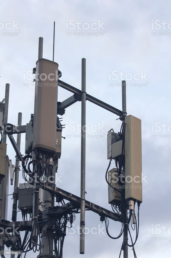 antenna for receiving telephone stock photo