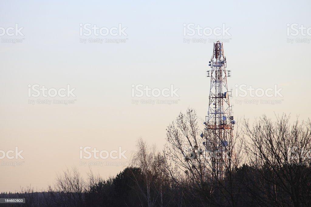 antenna mast, aerial stock photo