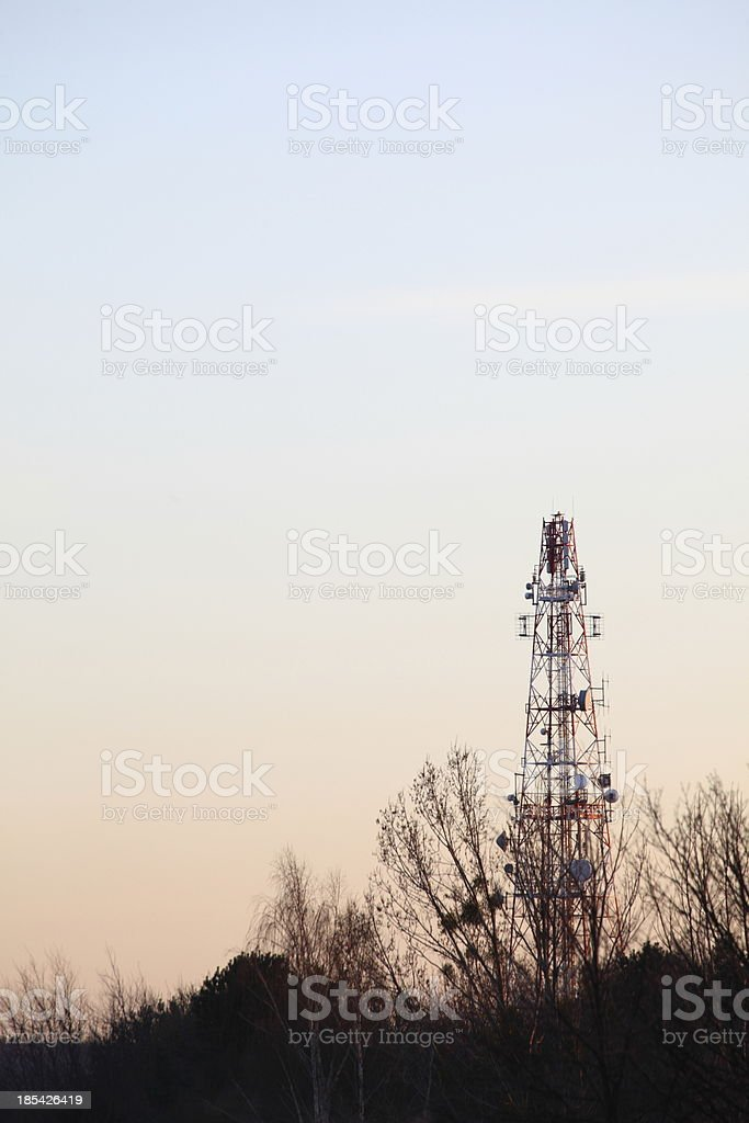 antenna mast, aerial royalty-free stock photo