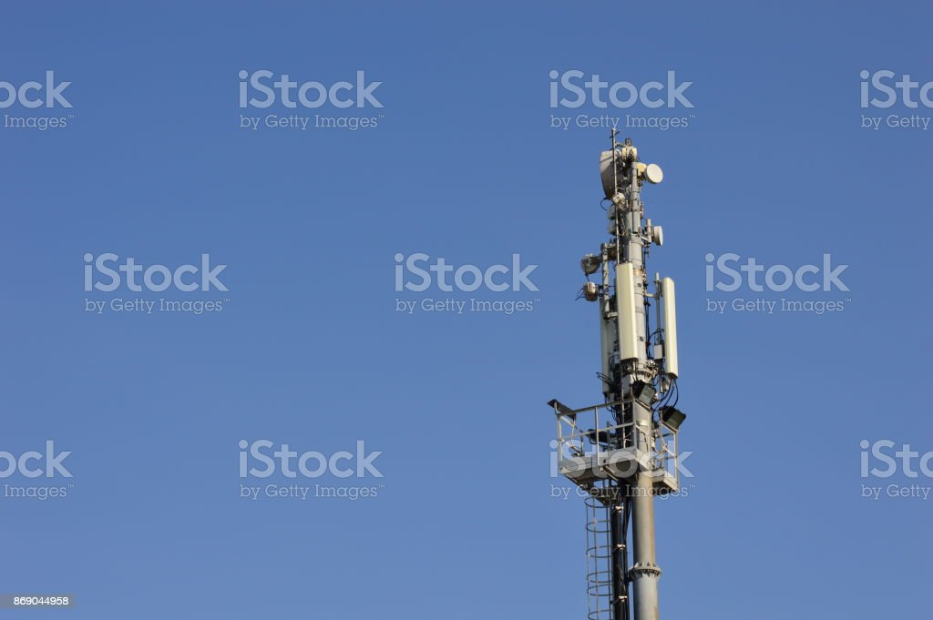 Antenna mast, (Telekommunikation) stock photo