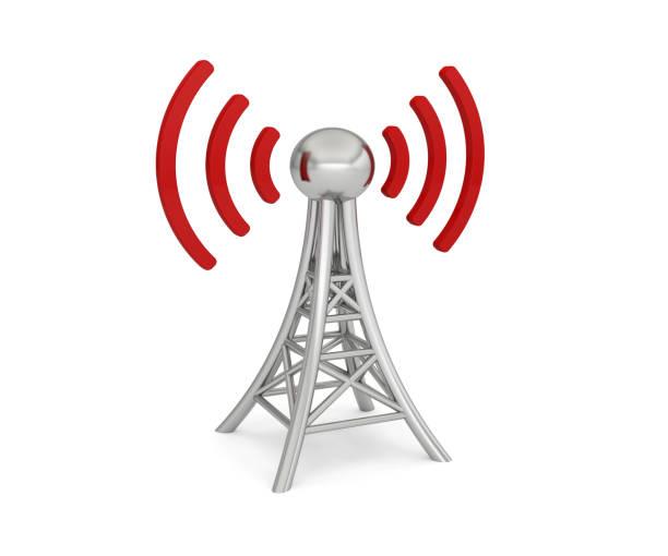 antenna network 3g 4g 5g wireless transmission - 4g foto e immagini stock