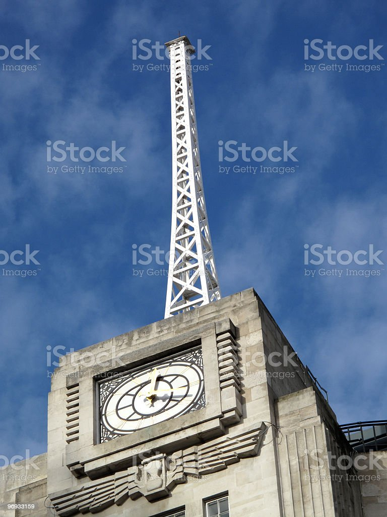 Antenna Of Broadcasting House royalty-free stock photo