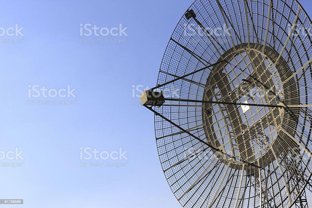 Antenna of radar stock photo