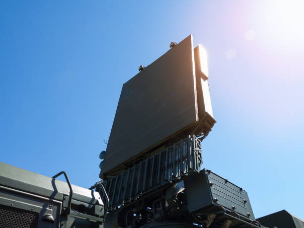 Antenna of the air defense systems. Antenna of the air defense systems on the background of blue sky. antiaircraft stock pictures, royalty-free photos & images