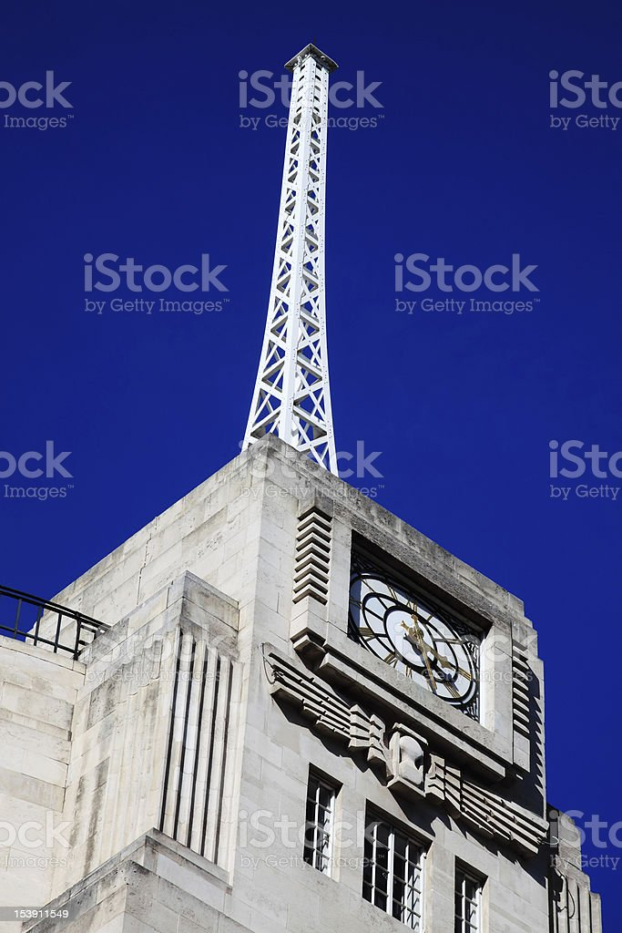 Antenna Of The BBC Broadcasting House royalty-free stock photo