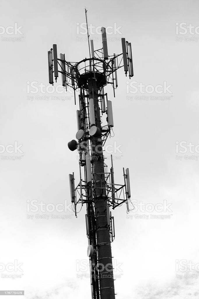 Antenna (B&W) stock photo