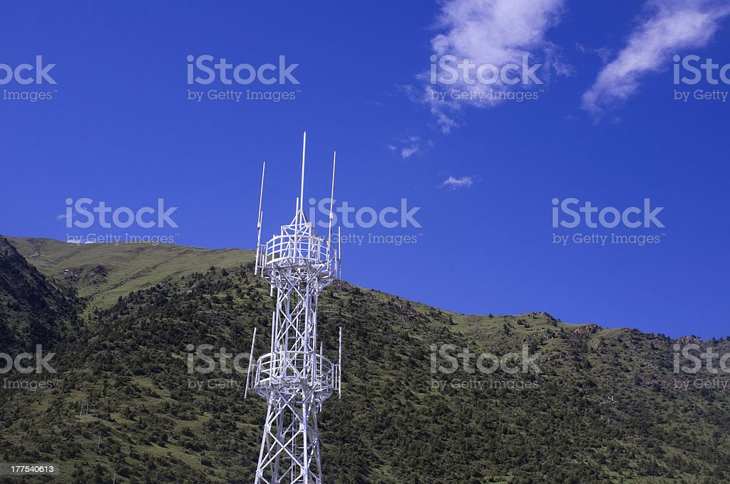 GSM antenna royalty-free stock photo