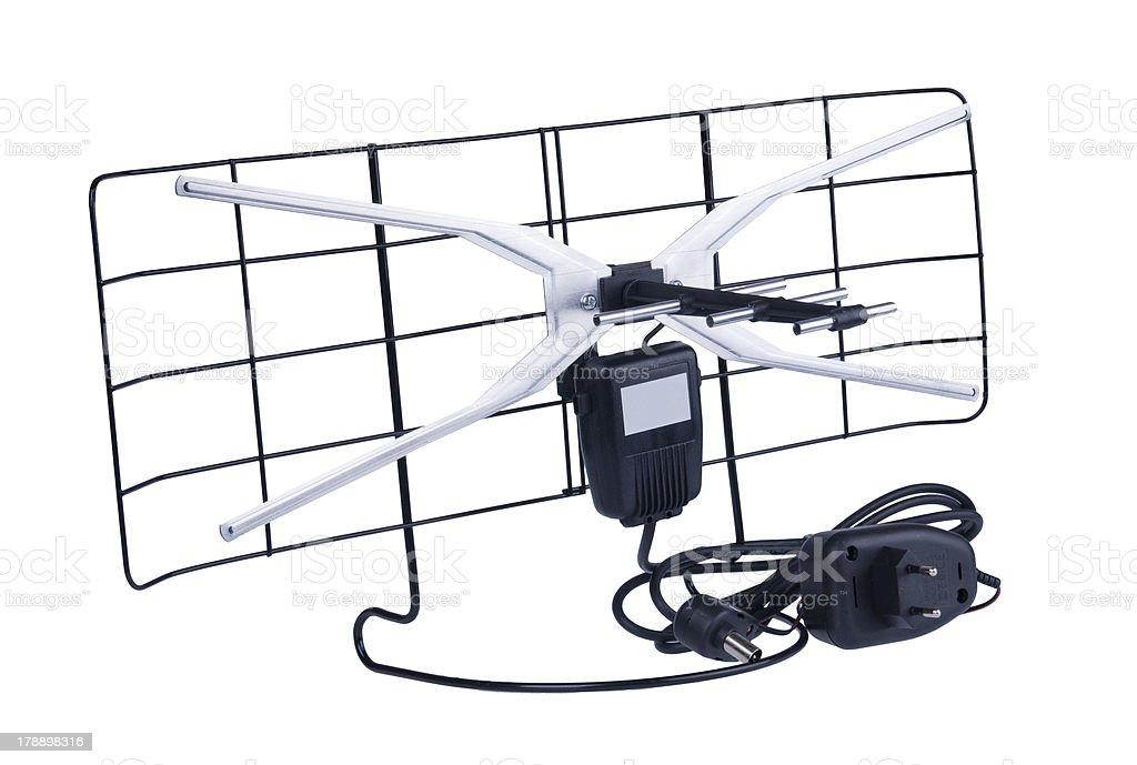 DVB-T antenna stock photo