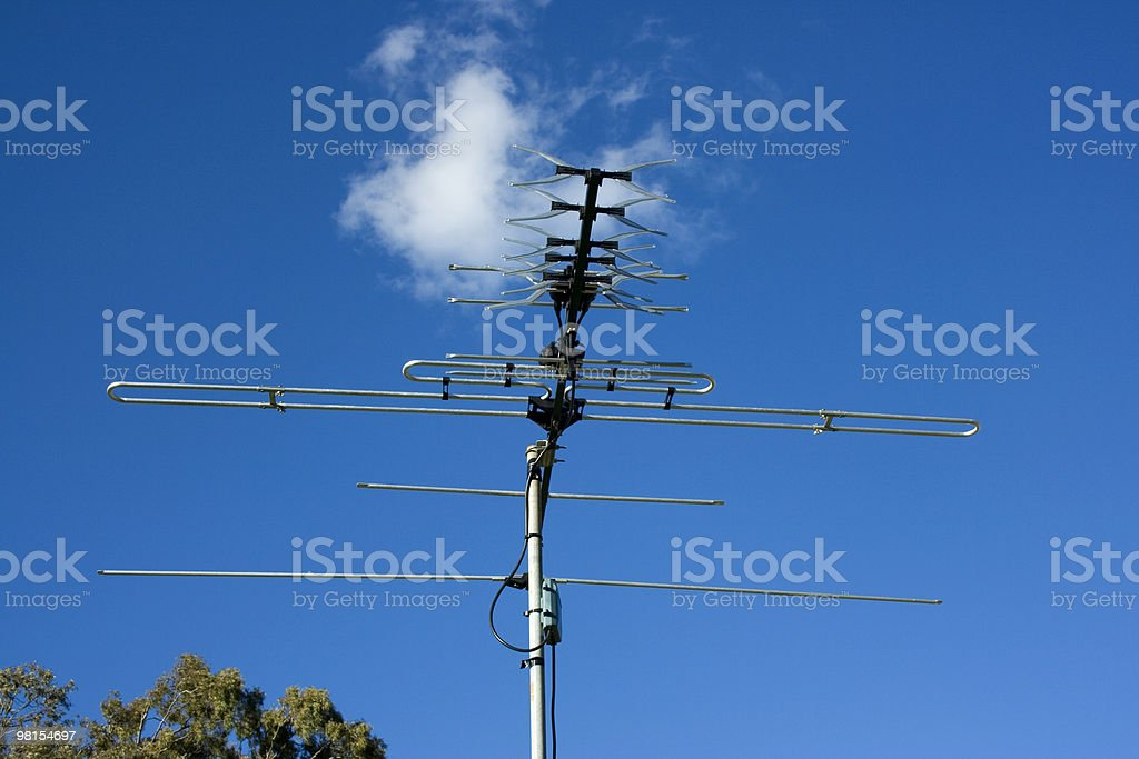 Antenna TV foto stock royalty-free