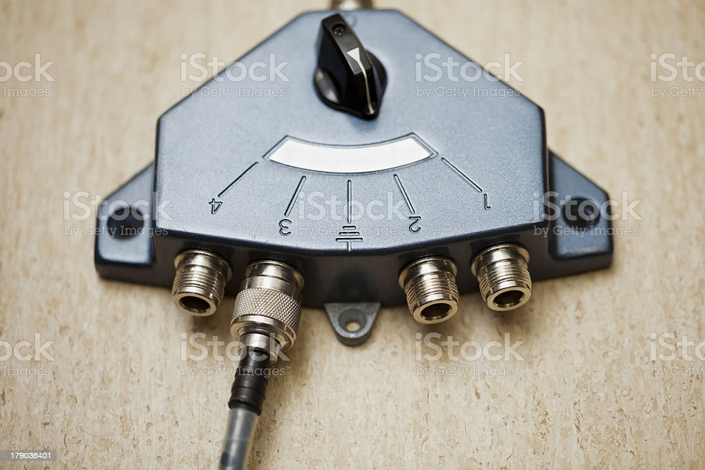 Antenna switch royalty-free stock photo