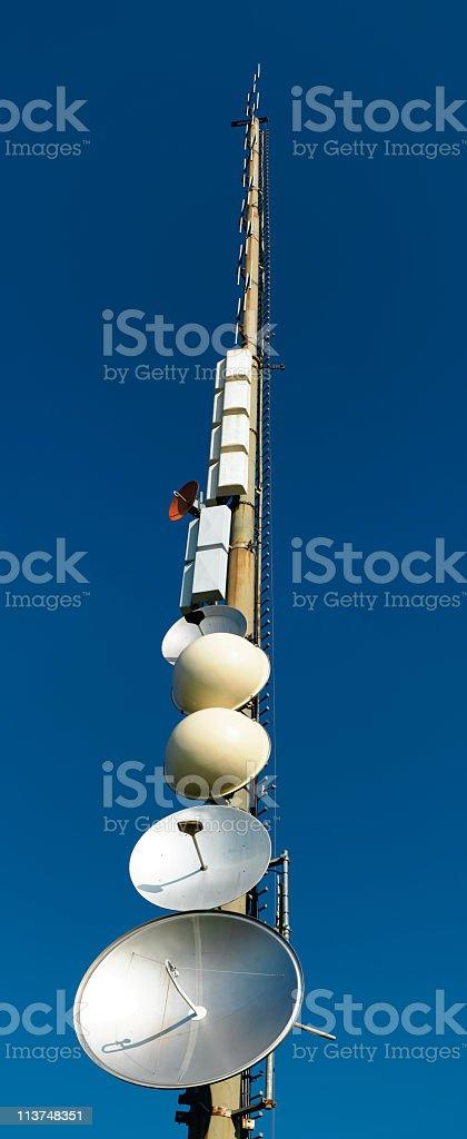 antenna telecomunicazioni royalty-free stock photo