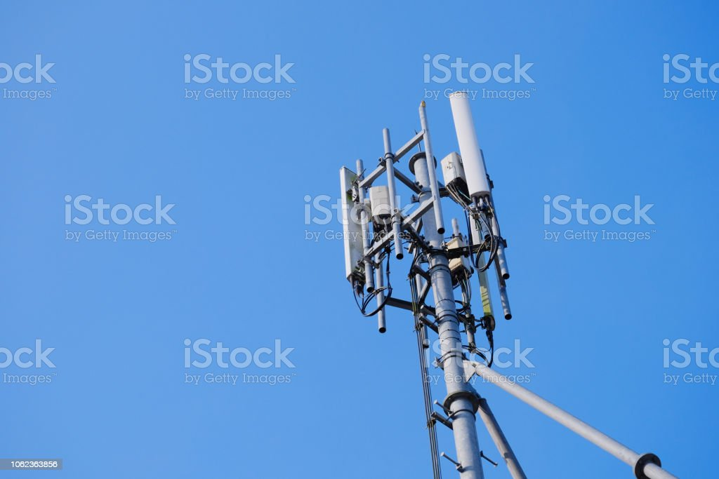 Antenna Tower Of Telecommunication And Signal Repeater Of Mobile