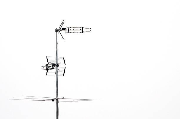 Antenna tv set stock photo