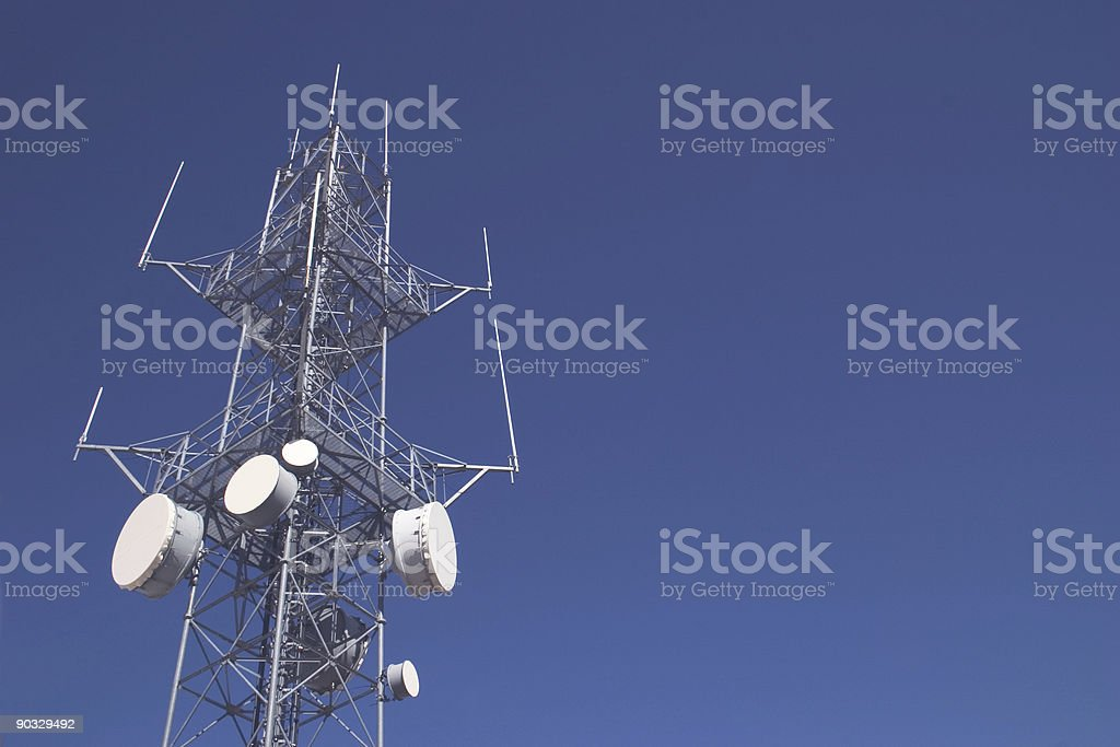 Antenna with room for copy royalty-free stock photo